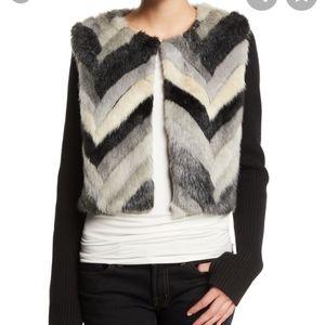 Ramy BrookAbel Chevron-Stripe Faux-Fur & Wool Jack